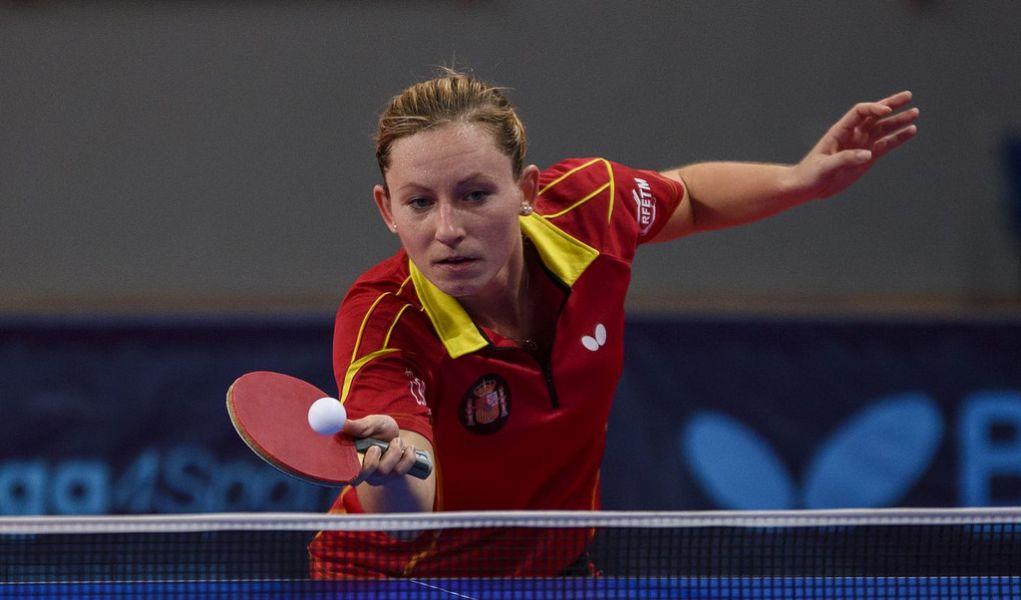 Galia Dvorak, jugadora de la selección española de tenis de mesa.