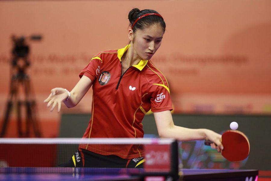 Sofía Xuan-Zhang en una competición internacional (Foto: ITTF World)