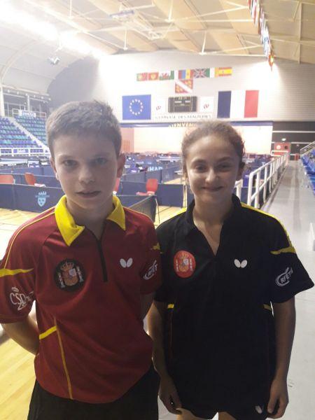 Daniel Berzosa y Yanira Sánchez, en el Eurominichamps 2017