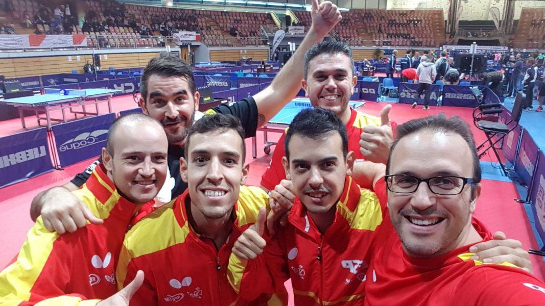 Selección Masculina de Tenis de Mesa en el Campeonato de Europa 2017