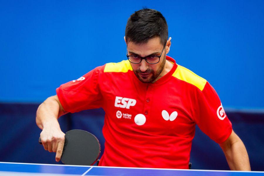 Francisco Javier López, jugador de la selección española de tenis de mesa