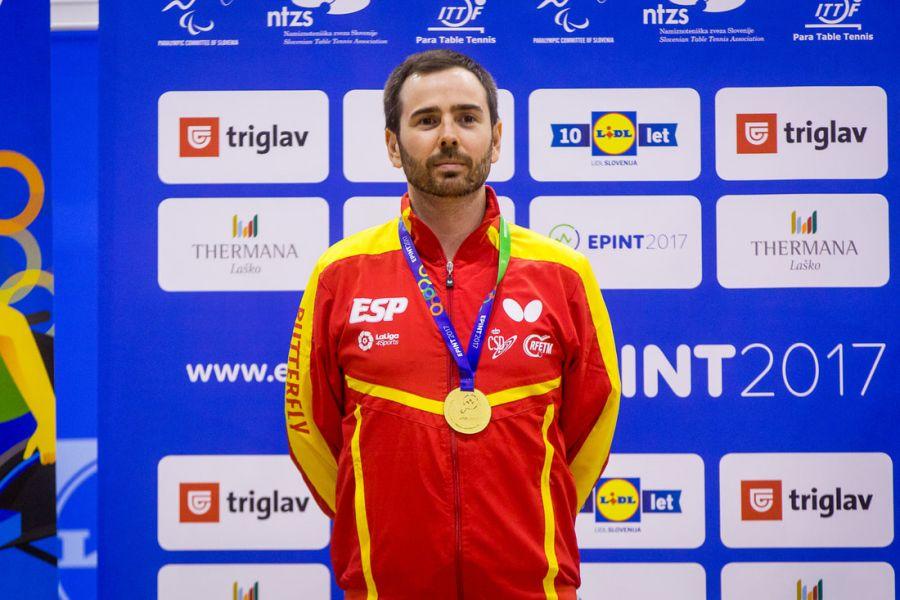 Álvaro Valera, Campeón de Europa de Tenis de Mesa en Clase 6