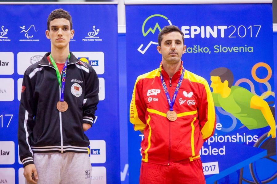 Jose Manuel Ruiz, bronce individual Clase 10 en el Campeonato de Europa de Tenis de Messa 2017