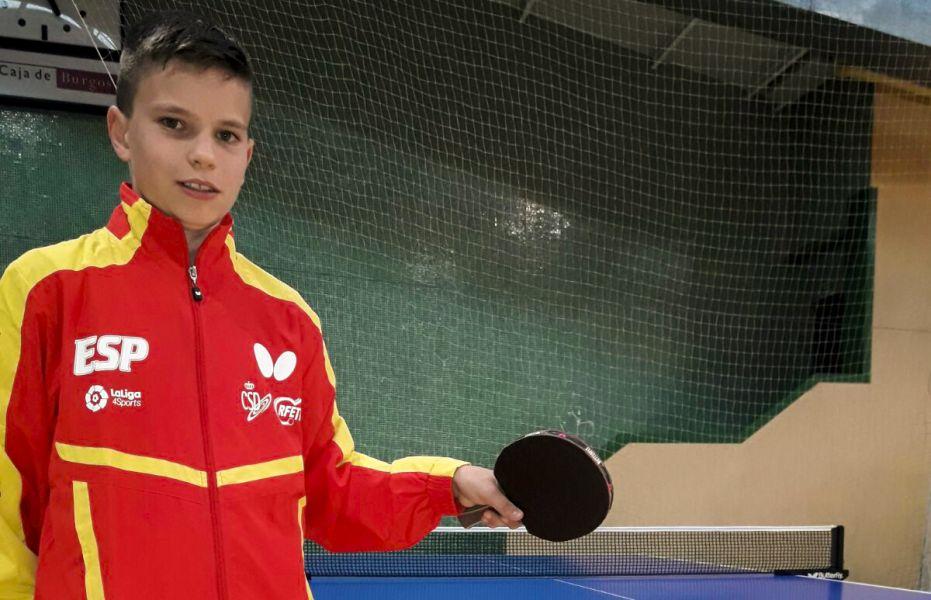 Daniel Berzosa en las instalaciones de entrenamiento del Universidad de Burgos