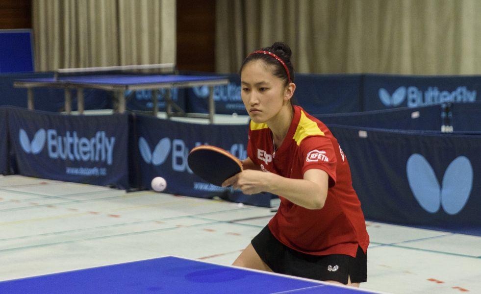 Sofía-Xuan Zhang entrenando en el Centro de Alto Rendimiento de Madrid