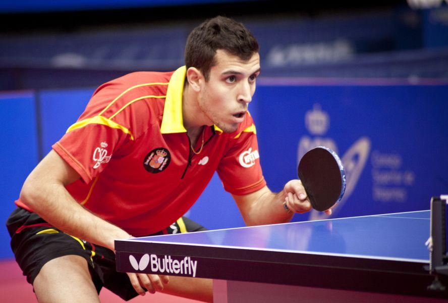 Álvaro Robles, jugador de la selección española de tenis de mesa ITTF