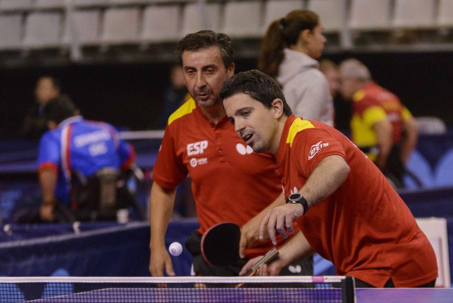 Jorge Cardona y Juan Bautista Pérez disputando las pruebas de equipos en el PTT Spanish Open