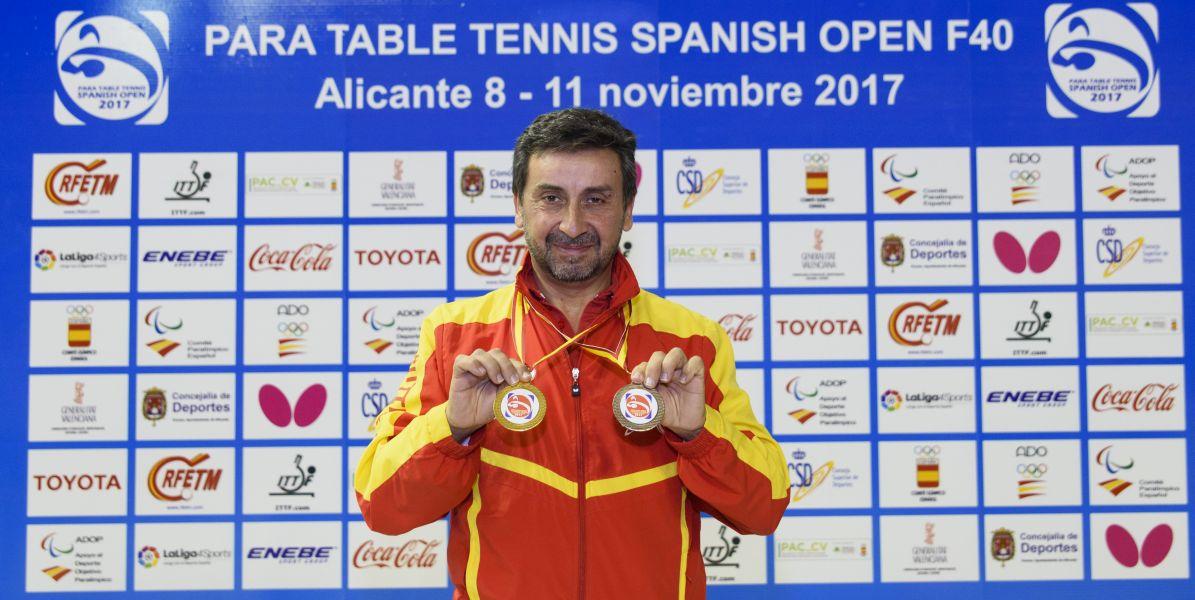 Juan Bautista Pérez, doble medallista en PTT Spanish Open 2017