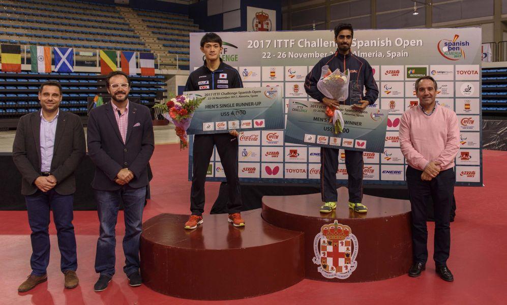 Gnanasekaran, campeón del ITTF Challenge Spanish Open 2017