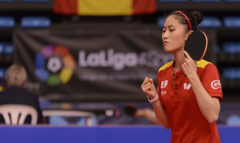 Sofía Xuan Zhang, jugadora de la selección española de tenis de mesa