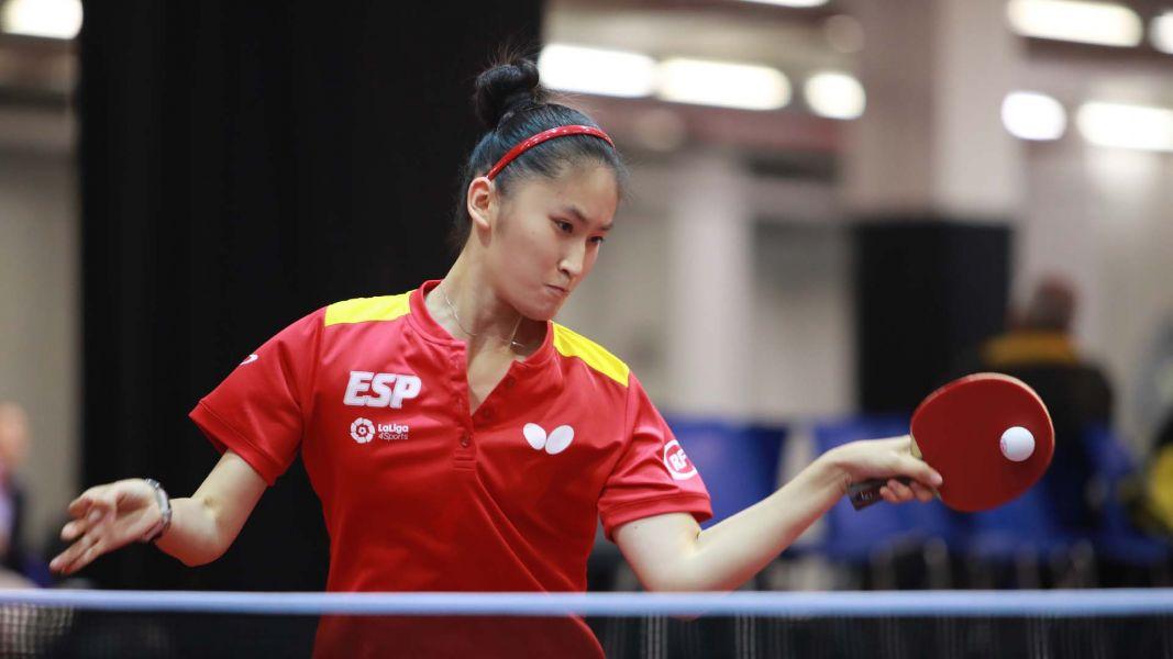 Sofía Xuan Zhang, en el Campeonato del Mundo Junior de Tenis de Mesa 2017