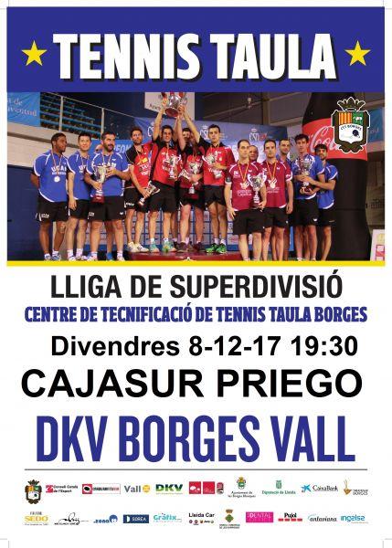 Cartel partido SUM: DKV Borges Vall vs Cajasur Priego TM