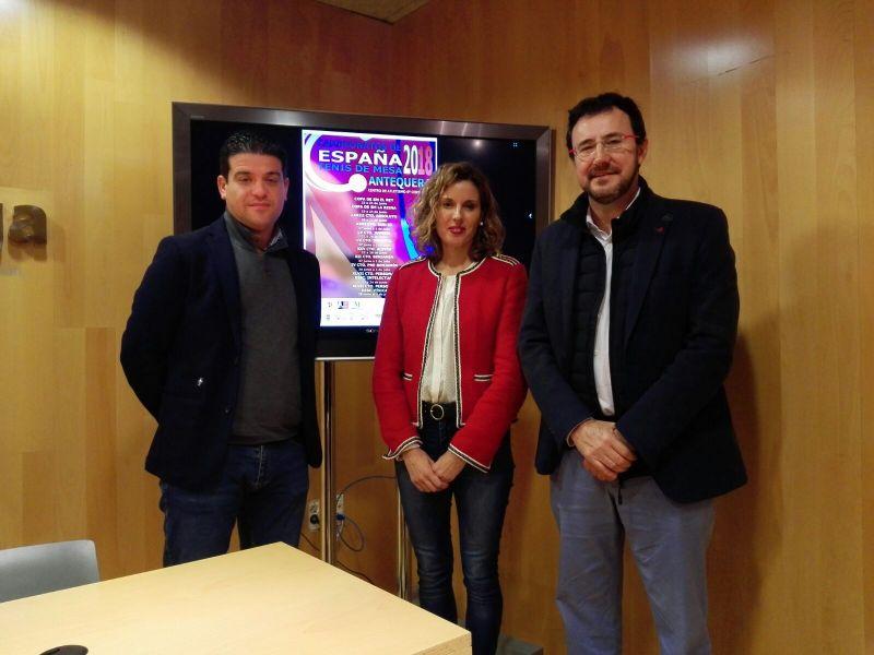 Cristóbal Ortega, Eugenia Galán y Miguel Ángel Machado.