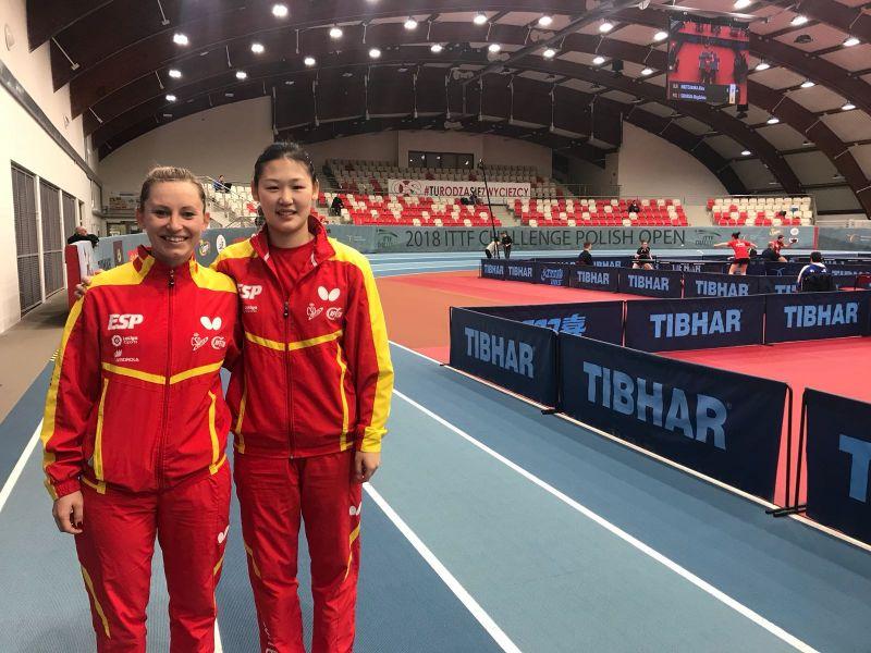 Galia Dvorak y Maria Xiao, en el Polish Open 2018