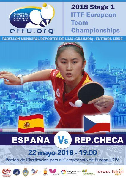 Cartel Promoción España - República Checa, en Loja (Granada).