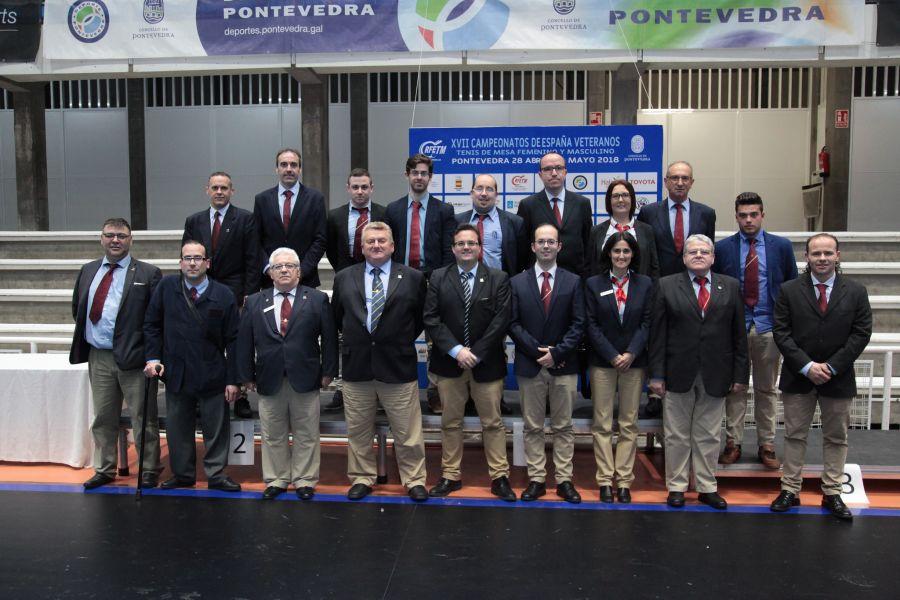 Árbitros XXVII Campeonatos de España de Veteranos.