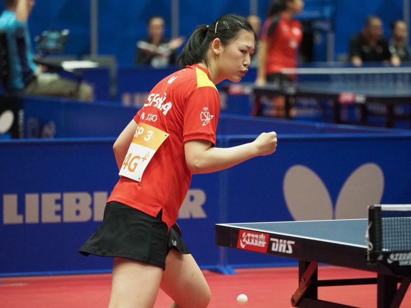 María Xiao en ITTF Worlds 2018