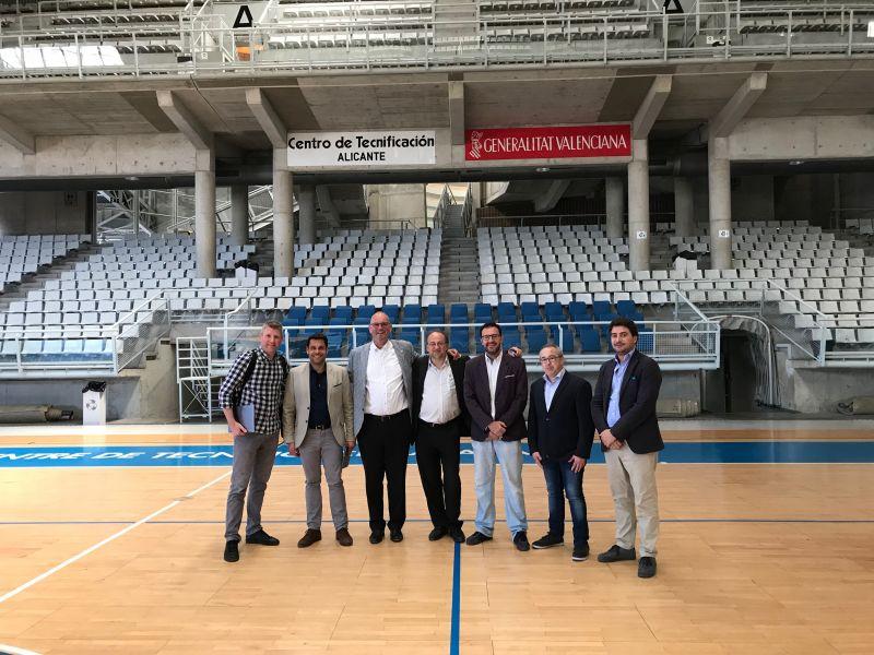 ETTU, ITTF y RFETM en el Centro de Tecnificación de Alicante.