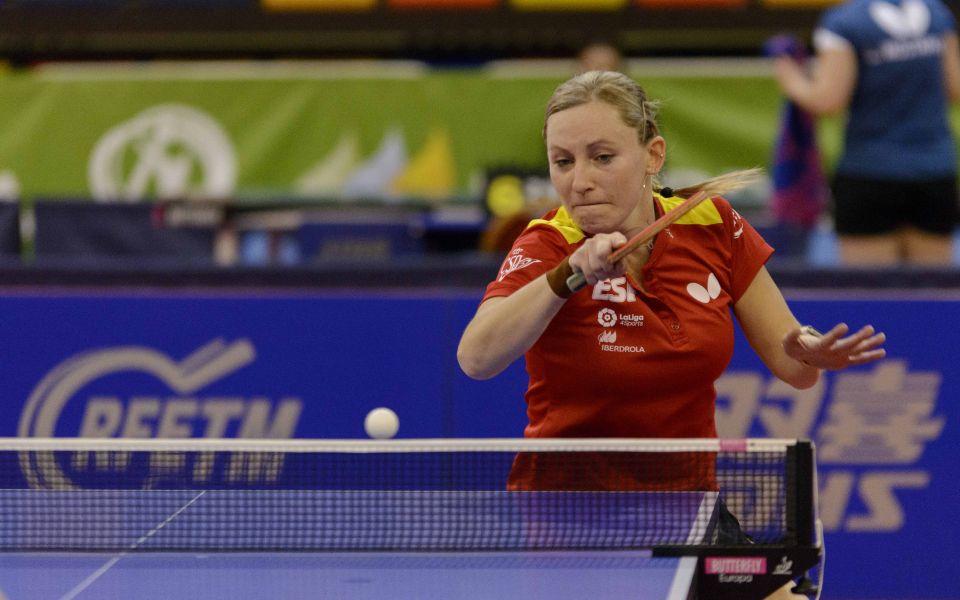 Galia Dvorak, jugadora de la Selección Española de Tenis de Mesa (Foto: Álvaro Diaz)