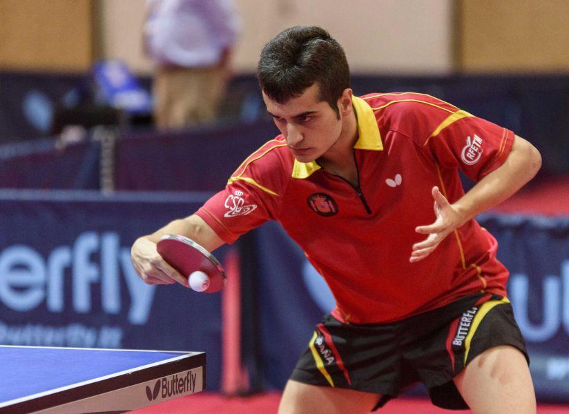 Joan Masip, jugador de la Selección Española de Tenis de Mesa