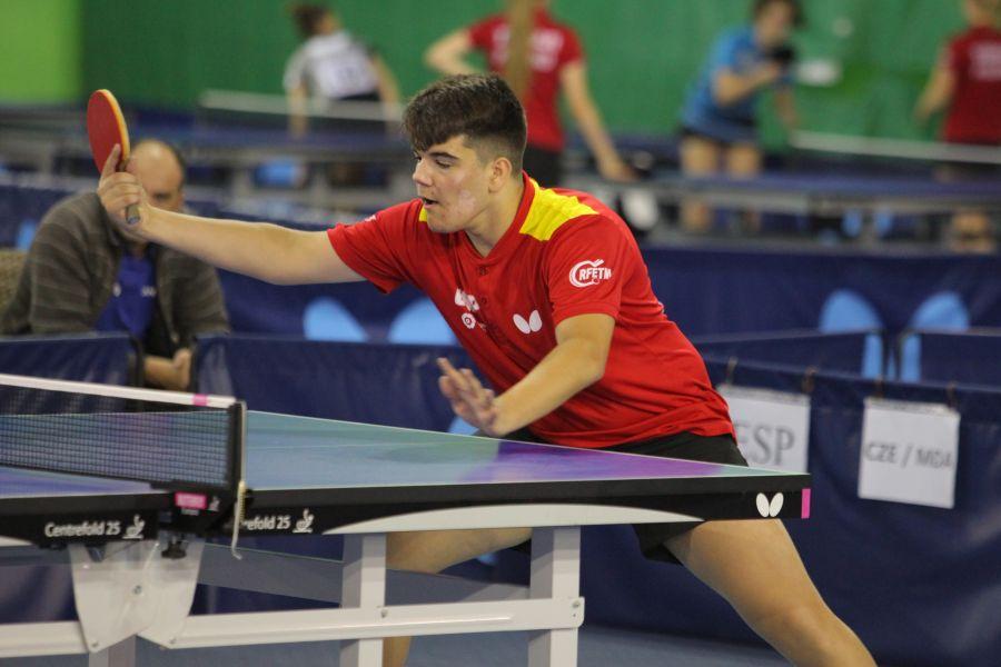 Diego Lillo, jugador de la Selección Española de Tenis de Mesa desplazada a Hungría.