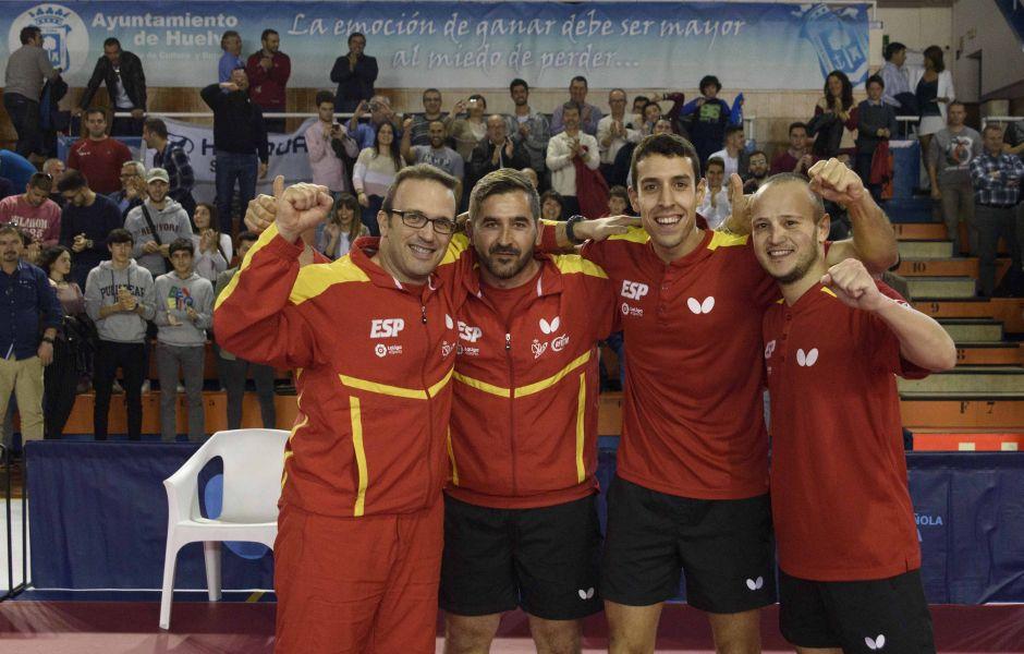 España en Huelva jugando la Liga Europea