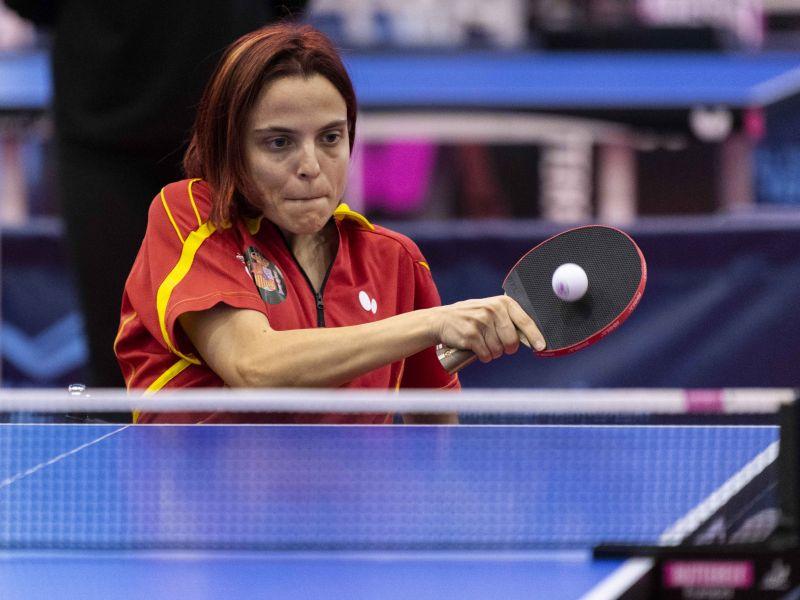 Cristina Rubio, jugadora de la Selección Española Paralímpica de tenis de mesa