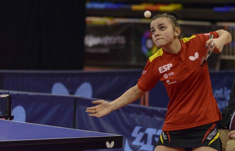 Andrea Pérez, jugadora de la Selección Española de Tenis de Mesa desplazada a Portugal.
