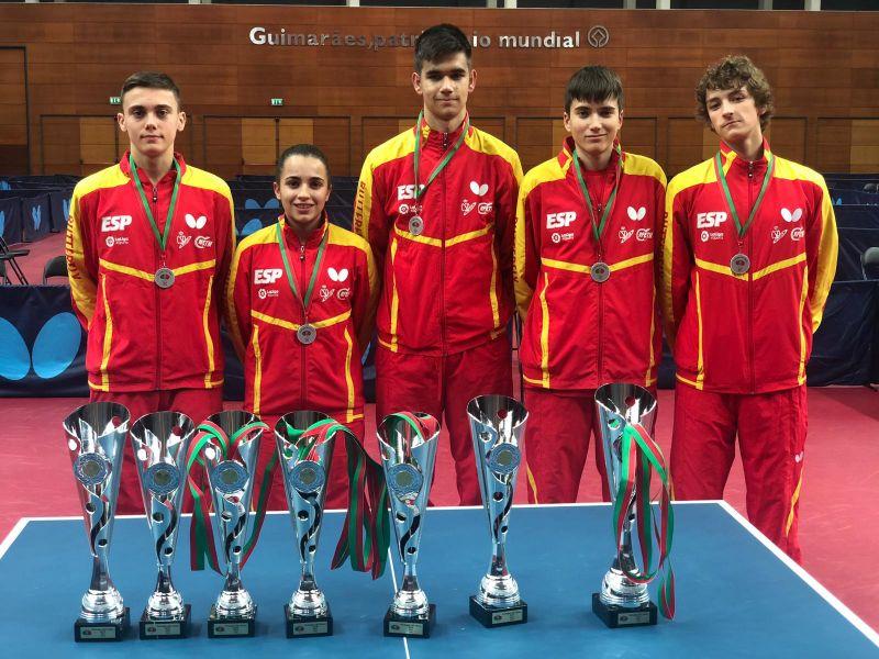Delegación española galardonada en el ITTF Portugal Junior & Cadet Open 2018