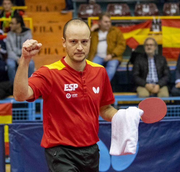 Carlos Machado, jugador de la Selección Española de Tenis de Mesa masculina (Foto: Alvaro Diaz)