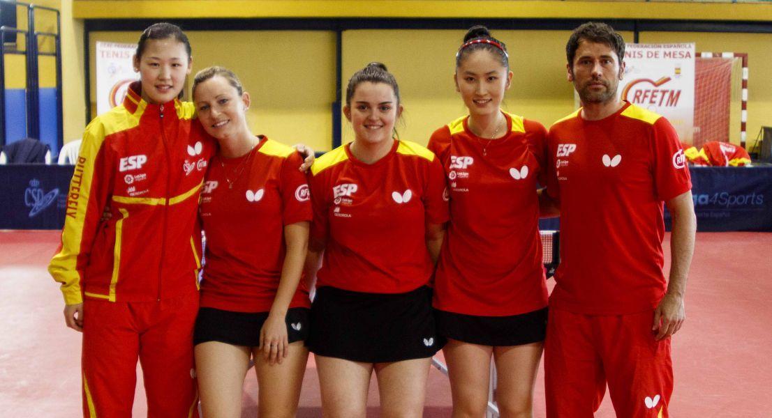 Selección Española de Tenis de Mesa femenina (Foto: Alvaro Diaz)