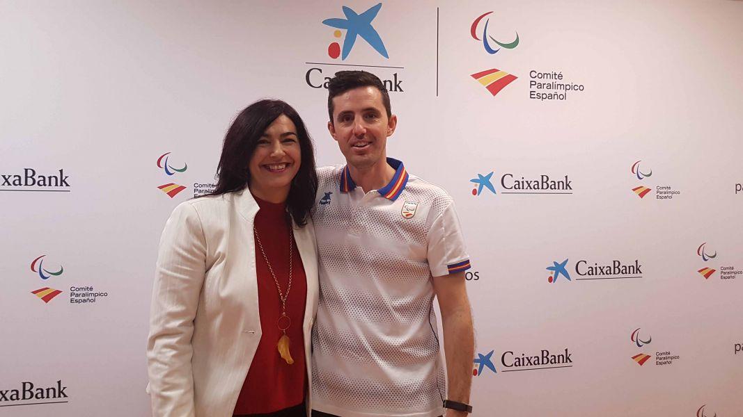 Jose Manuel Ruiz, junto a Maria José Rienda, presidenta del Consejo Superior de Deportes. (Foto: Alvaro Diaz)