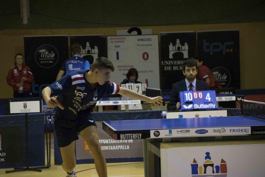 Miguel Nuñez, jugador Universidad de Burgos TPF