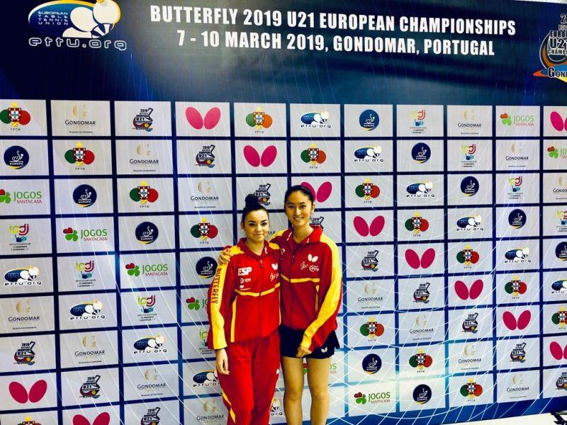 Andrea Pérez y Sofía Xuan Zhang, en el Campeonato de Europa Sub21