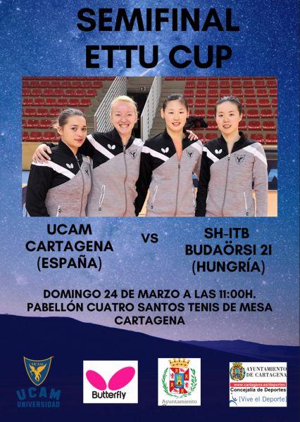 Cartel de las semifinales de ETTU Cup