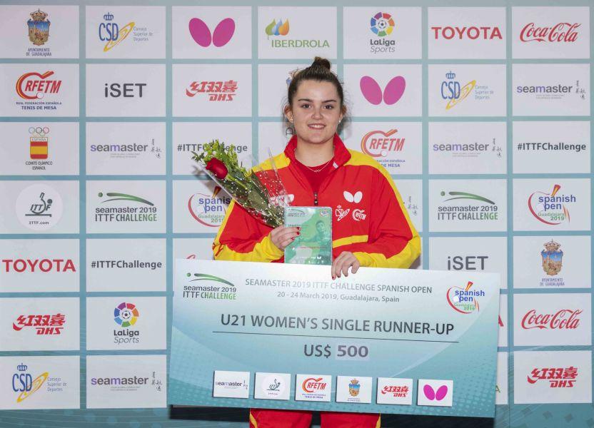 Ana García en el podio