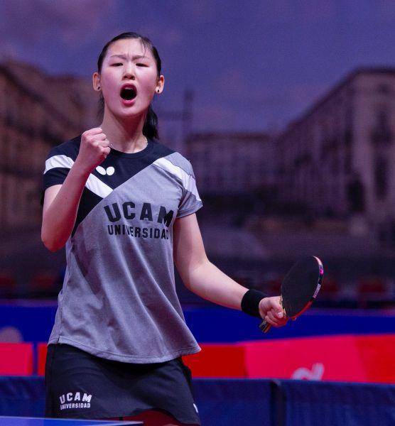 Maria Xiao, jugadora de la UCAM Cartagena TM
