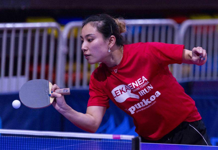 Jie Zhang, jugadora Irún Leka Enea
