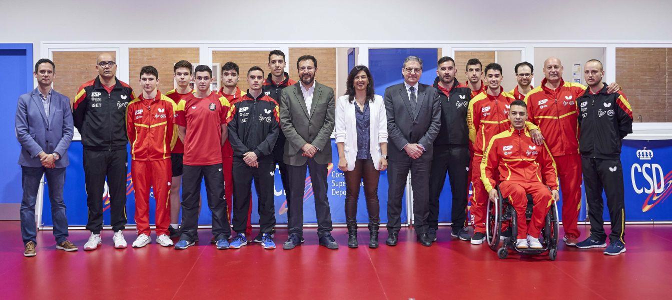 María José Rienda, presidenta del CSD, visita a la Selección Española en el CAR de Madrid (Foto: Diego G Souto)