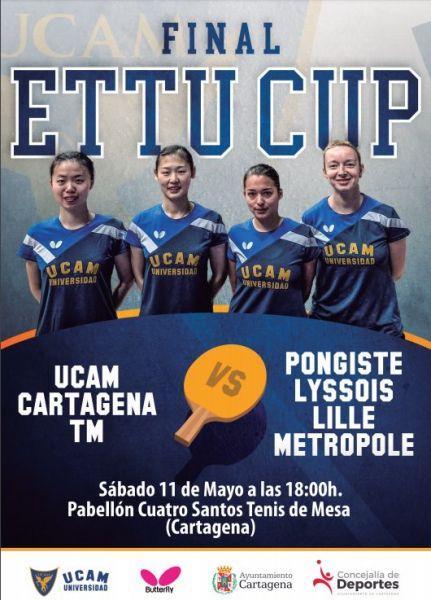 Cartel anunciador del UCAM Cartagena.