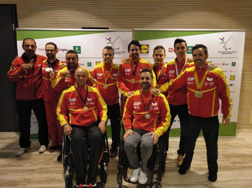 El equipo Paralímpico español en Eslovenia