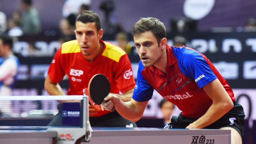 Álvaro Robles y Ovidivu Ionescu disputando en el China Open 2019