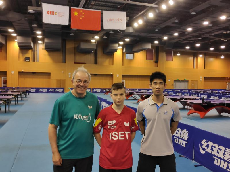 Daniel Berzosa en el ITTF Hopes Selection Camp 2019