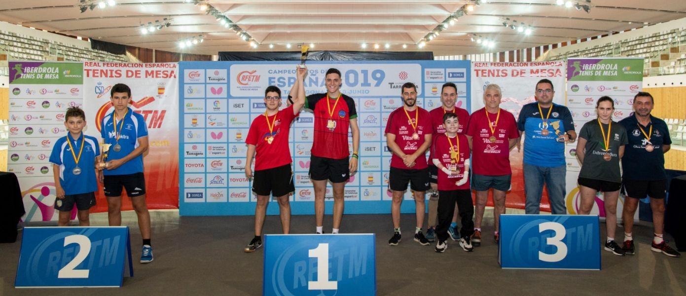 Podio Equipos Pie Campeonato de España 2019 (Foto: Alvaro Diaz)