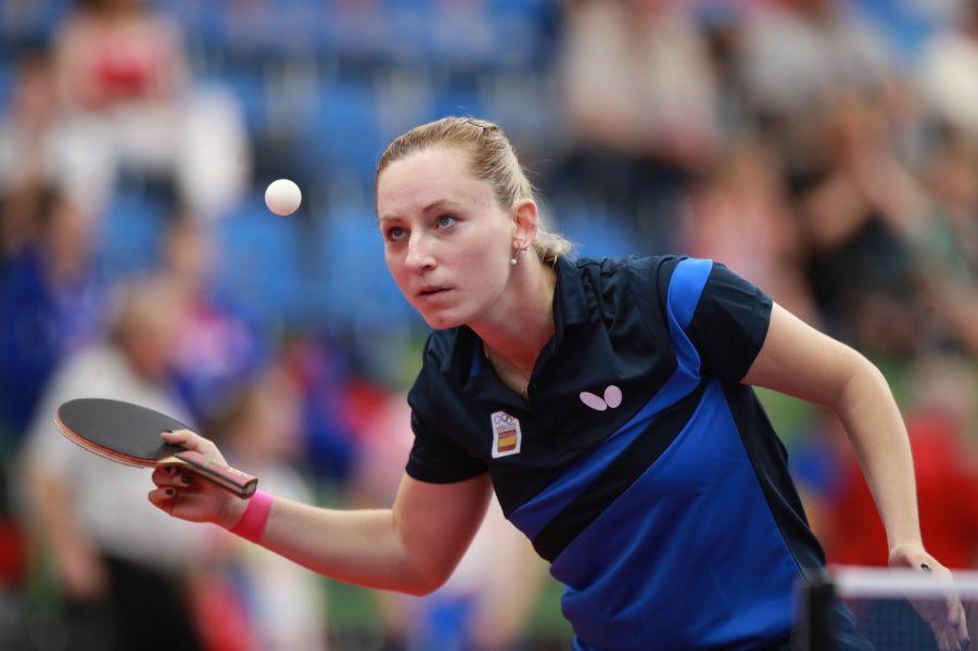 Galia Dvorak participando en los Juegos Europeos 2019