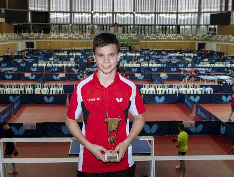 Daniel Berzosa, Campeón de España Alevín 2019 (Foto: Alvaro Diaz)