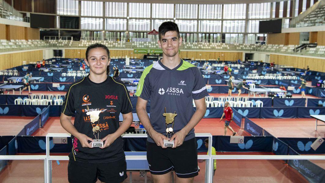 Ainhoa Cristóbal y Alberto Lillo, Campeones de España Juvenil 2019 (Foto: Alvaro Diaz)