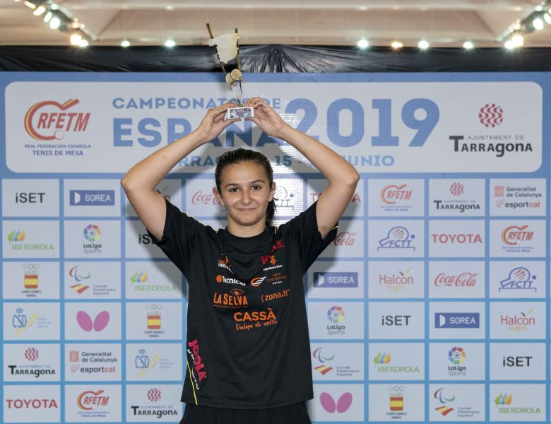 Ainhoa Cristóbal, Campeona de España Juvenil 2019 (Foto: Alvaro Diaz)