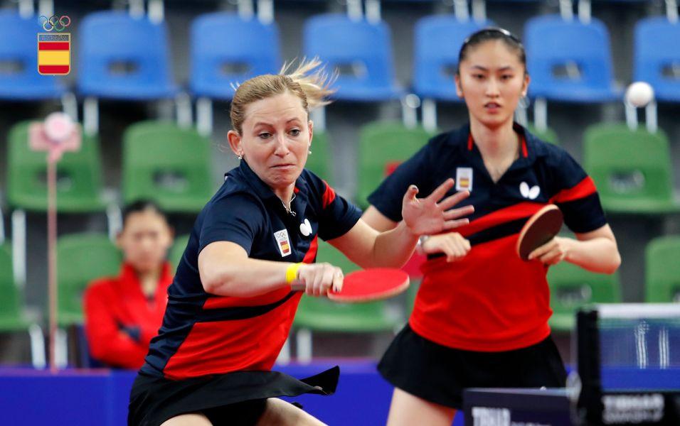 Galia Dvorak y Sofía Xuan Zhang participando en los Juegos Europeos 2019 (Foto: COE)