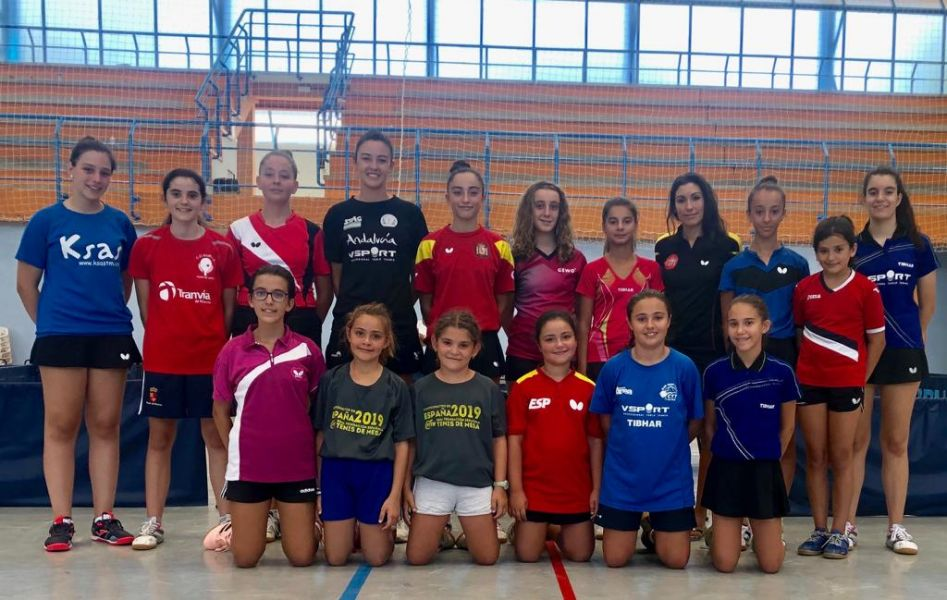Grupo completo de la concentración en Jaén del Programa Mini Spin